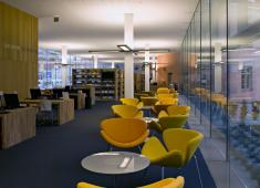 Turku City Library, Main Library / News area / Photograph by Arno de la Chapelle, 2007
